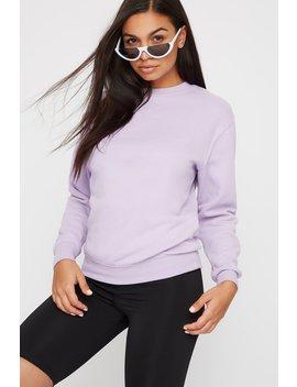 Neon Crew Neck Fleece Sweatshirt by Urban Planet