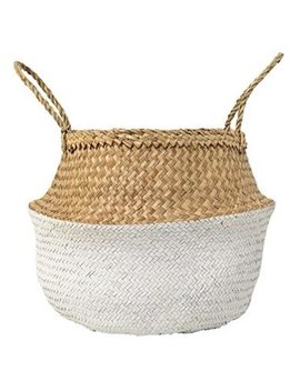 Seagrass Basket   Natural &Amp; White, Large by Bloomingville