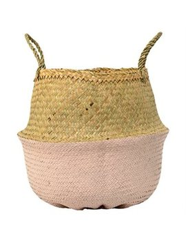 Seagrass Basket – Natural &Amp; Rose, Small by Bloomingville