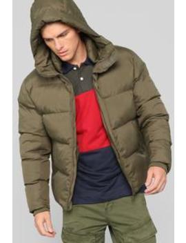 Classic Puffer Jacket   Olive by Fashion Nova