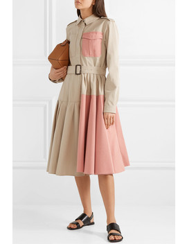 Belted Paneled Cotton Drill Dress by Jw Anderson