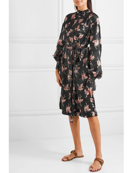 Printed Silk Midi Dress by Co