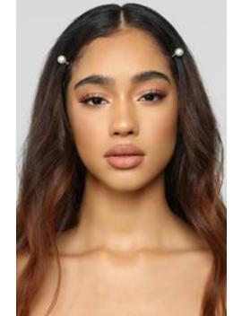 Are You Pearl Real Hair Clips   Silver by Fashion Nova