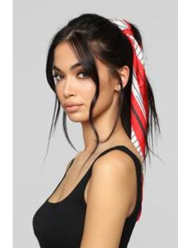 Off The Top Of My Head Scarf   Red/Combo by Fashion Nova