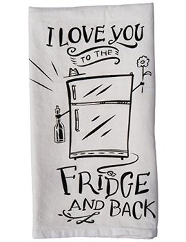 Primitives By Kathy Lol Made You Smile Dish Towel, 28 Inch, To The Fridge And Back by Primitives By Kathy