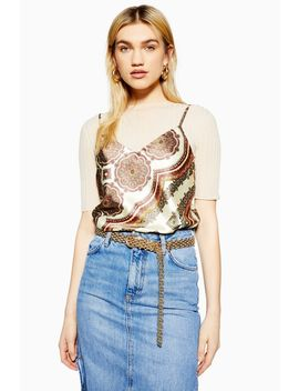 Paisley Print Camisole Top by Topshop