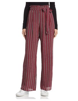 Avery Striped Paperbag Waist Pants by Band Of Gypsies