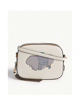 Disney Dumbo Logo Leather Cross Body Bag by Coach