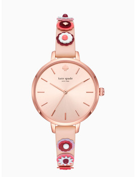 Metro Western Rivet Vachetta Leather Watch by Kate Spade