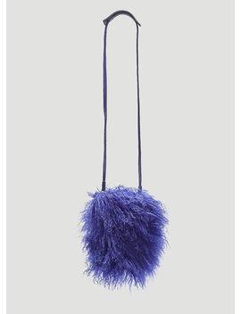 Shearling Cross Body Bag In Purple by Kara