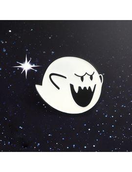 Cartoon Enamel Pin Super Mario Boo White Fat Ghost Elfin Halloween Ball Lapel Brooches Badge Mario Game Jewelry Pin Accessories  by Xio Mara
