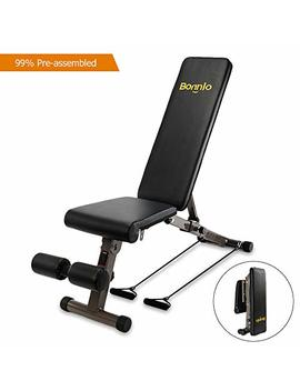 bonnlo-upgraded-adjustable-bench,-folding-weight-bench-press-for-body-workout-fitness,-660-lbs-capacity,-workout-bench-for-incline-decline-flat-exercise-training-black by bonnlo
