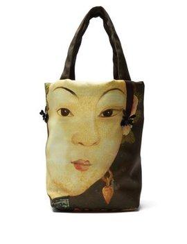 Lady Print Embellished Tote Bag by Simone Rocha