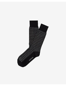 Micro Dot Print Dress Sock by Express