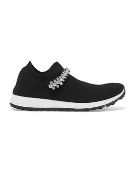 verona-crystal-embellished-stretch-knit-sneakers by jimmy-choo