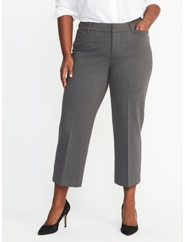 Secret Slim Pockets + Waistband Plus Size Ponte Knit Pixie Ankle Trousers by Old Navy