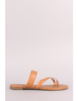 Toe Ring Slide Flat Sandal by Urbanog