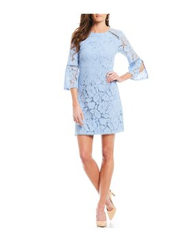 Lace Bell Sleeve Shift Dress by Vince Camuto
