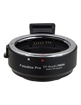 Fotodiox Pro Fusion Smart Adapter   Canon Eos (Ef/Ef S) D/Slr Lens To Sony Alpha E Mount Mirrorless Camera Body by Fotodiox