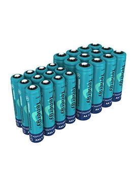 Tenergy High Drain Aa And Aaa Battery, 1.2 V Rechargeable Ni Mh Batteries Combo, 12 Pack 2600m Ah Aa Cells And 12 Pack 1000m Ah Aaa Cell Batteries by Tenergy