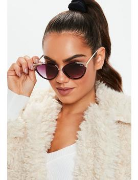 Quay Australia Hearsay Red Sunglasses by Missguided