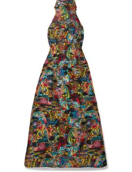 Fil Coupé Halterneck Maxi Dress by Sid Neigum