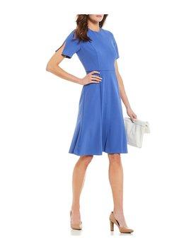 Crepe Slit Hem Dress by Donna Morgan