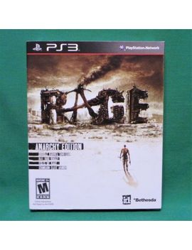 Rage: Anarchy Edition (Play Station 3, Ps3) First Print With Slip Cover Sealed by Sony