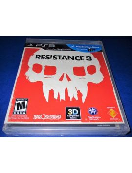 Resistance 3 Sony Play Station 3 *Factory Sealed! *Free Shipping! by Ebay Seller