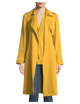 silk-belted-trench-coat by theory
