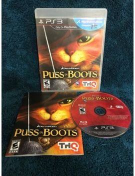 Puss In Boots (Sony Play Station 3, 2011) Ps3 Complete Rated E 10+ Tested Thq by Ebay Seller