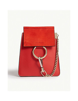Faye Leather And Suede Bracelet Bag by Chloe
