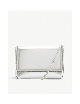 Bagikal Metallic Faux Leather Clutch by Dune