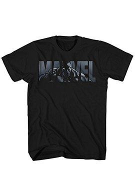 marvel-logo-black-panther-avengers-super-hero-adult-graphic-mens-t-shirt by marvel
