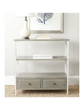 Safavieh Amh6551 B American Homes Collection Chandra Console Table, French Grey/White Smoke by Safavieh