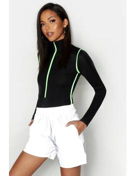 Tall Reflective Fabric Shorts by Boohoo