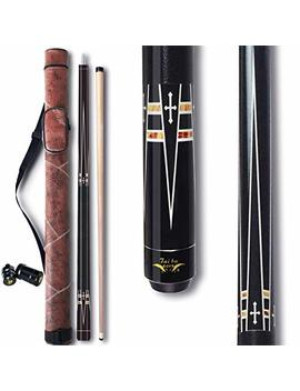 "Tai Ba 2 Piece Pool Stick + Hard Case,13mm Tip, 58"", Hardwood Canadian Maple Professional Billiard Pool Cue Stick 19 22 Oz (Selectable) by Amazon"