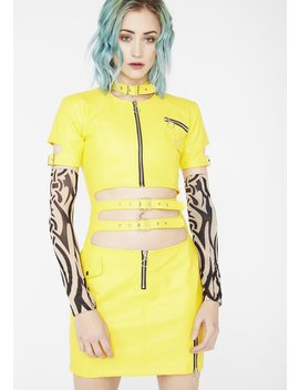 Faster Pussycat Vegan Leather Dress by Strange Couture