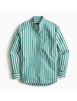 Band Collar Popover Tunic In Bold Stripe by J.Crew