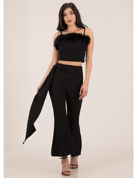 Once And Fur All Trimmed Crop Top by Go Jane