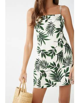 Leaf Print Mini Dress by Forever 21