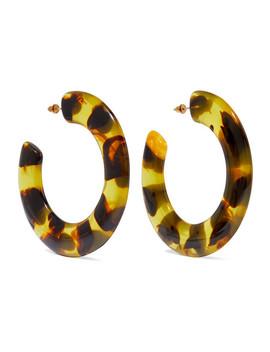 Kennedy Tortoiseshell Acrylic Hoop Earrings by Cult Gaia