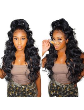 360 Lace Frontal Wig 100 Percents Human Hair Pre Plucked With Baby Hair 180 Percents Density Remy Brazilian Body Wave Lace Front Wig Ever Beauty by Ever Beauty