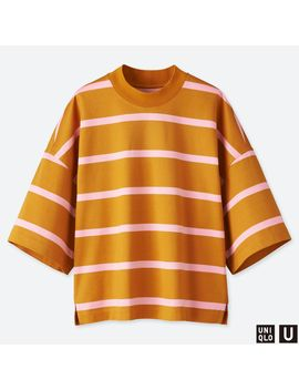 Oversized Striped Square Half Sleeve T by Uniqlo