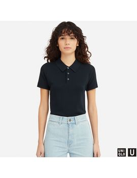 U Knitted Short Sleeve Polo Shirt by Uniqlo