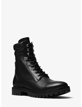 Wilder Leather Combat Boot by Michael Kors Mens
