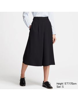 Drape Wide Cropped Pants by Uniqlo