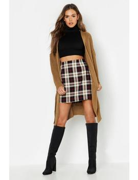 Oversized Belted Boyfriend Cardigan by Boohoo