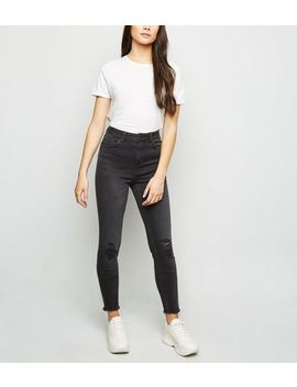 Tall Black 'lift & Shape' Ripped Jeans by New Look