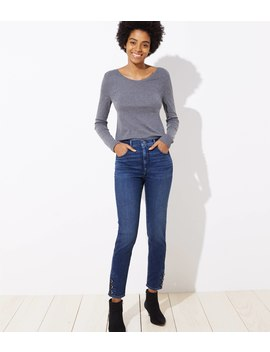 modern-button-cuff-high-waist-skinny-jeans-in-aegean-blue-wash by loft